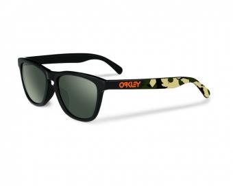 Oakley Frogskins Matte Black Camo w/ Dark Gray