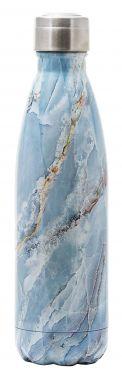 Yoko Design termosjuomapullo 0.5 L Sininen Marmorikuvio