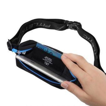 Fitletic juoksuvyö joustavalla materiaalilla MSB01 Sininen