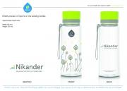 Equa juomapullo Nikander logolla