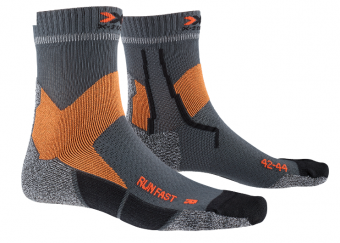X-Socks Run Fast harmaa ohuet juoksusukat